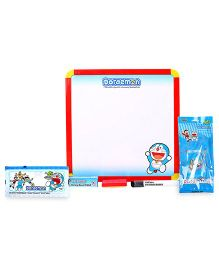 Doraemon dual writing board and pouch and stationery set