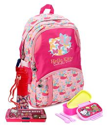 Hello Kitty magnifier and school bag and lunch box and siper bottle