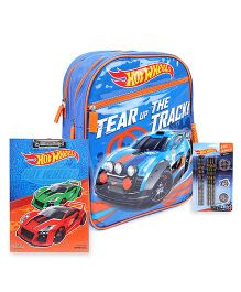 Hot Wheels backpack and clipboard and stationery set