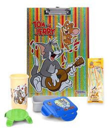 Tom and Jerry lunch box and tumbler and clipboard and stationery set