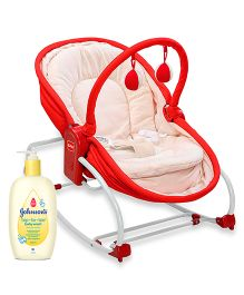 Johnsons baby Top to Toe Wash  500 ml AND LuvLap 3 In 1 Rocker Napper Red 18207