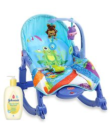 Johnsons baby Top to Toe Wash  500 ml AND Luvlap Little Hopper Toddler Rocker Blue  18200