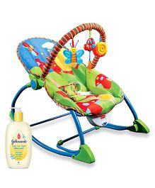 Johnsons baby Top to Toe Wash  500 ml AND Luvlap Butterfly Toddler Rocker Multi Color  18201