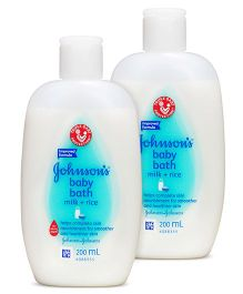 Johnsons baby Milk And Rice Bath  200 ml Pack of Two