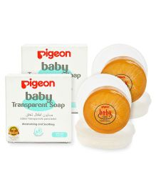 Pigeon Baby Transparent Soap With Case - 80 gram Pack of 2