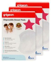 Pigeon Disposable Breast Pads 6 pieces Pack of 3