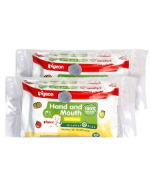 Pigeon Hand and Mouth Wipes - Pack of 2- Combo