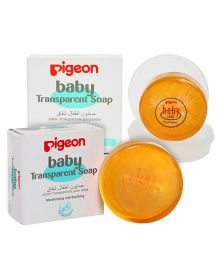 Pigeon Baby Transparent Soap With Case - 80 gram and Pigeon Baby Transparent Soap - 80 gm