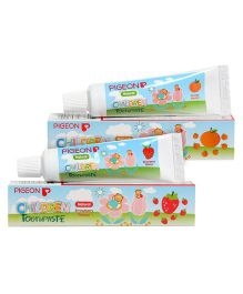 Pigeon Orange and Strawberry Flavoured Children Toothpaste - 45 gm