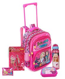 Barbie Lunch Box and Pencil Pouch and Stationery Set and Water Bottle
