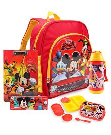 Disney Lunch Box and School Bag and Exam Board and Pencil Box and Sipper Bottle