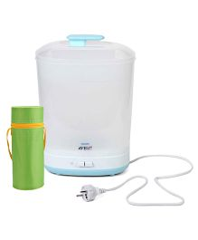 Avent - 2 In 1 Electric Steam Slim Sterilizer and  Insulated Feeding Bottle Holder - Green