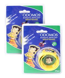 Dabur Odomos Mosquito Repellent Wrist Band Yellow - 1 Piece  pack of 2