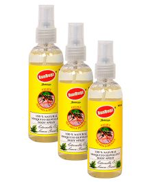 RunBugz Mosquito Repellent Body Spray - 100 ml Pack of 3