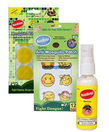 RunBugz Mosquito Repellent Patch Yellow - Pack Of 24  - Patch Smiley - Pack Of 12 - Body Lotion - 50 ml