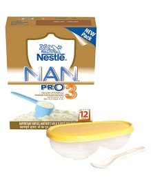 Nestle NAN PRO 3 Follow Up Formula Bib 24 x 400 g In AND Pigeon - Feeding Dish
