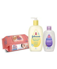 Johnsons baby Top to Toe Wash  500 ml AND Johnsons baby Skincare Wipes  80 Pieces AND Johnsons bedtime baby lotion 200ml