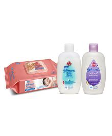 Johnsons baby milk and rice bath 200ml AND Johnsons baby Skincare Wipes 80 Pieces AND Johnsons bedtime baby lotion 200ml