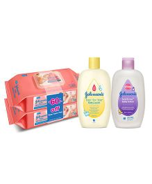 Johnsons Super Saver Combo - TT 200ml + Wipe pack of 2 + Bedtime Lotion 200ml