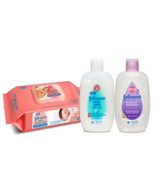 Johnsons Nourishing Care Combo wipes 80s + JJ milk wash 200ml + JJ Lotion 200ml