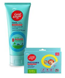 Good knight Patches Personal Mosquito Repellent Pack of 14 and Cool Gel Personal Mosquito Repellent