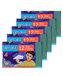 Apsara - Colorama 12 Wax Crayons -Pack of 5