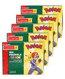 Camel Pokemon Oil Pastel - 12 Shades -Pack of 5