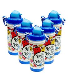 Mr Men and Little Miss Water Bottle 400 ml -Pack of 5