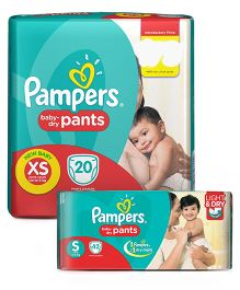 Pampers Pant Style Diapers Large - 48 Pieces & Pampers Pant Style Diapers Extra Large - 44 Pieces