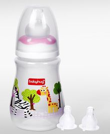 Babyhug Drop Feeding Bottle - 150 ml and  Babyhug Nipples Pack of 2