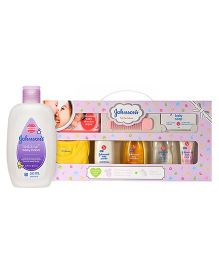 Johsons baby Care Collection With Organic Cotton Baby Romper - 9 Gift Items AND Johnsons bedtime baby lotion 200ml