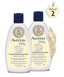 Aveeno Baby Soothing Relief Creamy Wash  236ml - pack of 2