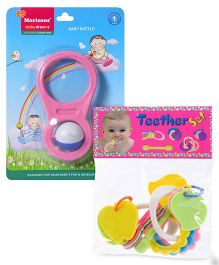 Morisons Baby Dreams Baby Rattle and  Kumar Toys Teether Set