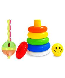 Kumar Toys Gada Rattle and  Littles Junior Ring Play And Learn Toy