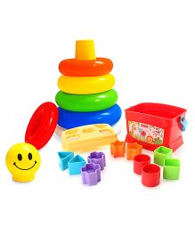 Fisher Price Brilliant Basics Babys First Blocks and  Littles Junior Ring Play And Learn Toy