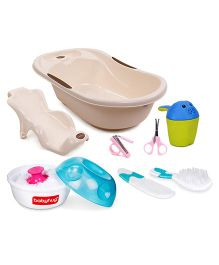 Babyhug Joy Bath Tub and Shampoo Rinse Cup with Grooming Kit