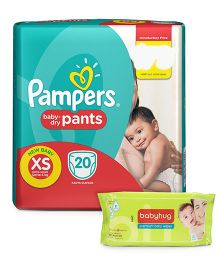 Pampers Pant Style Diapers Light And Dry Extra Small - 20 Pieces