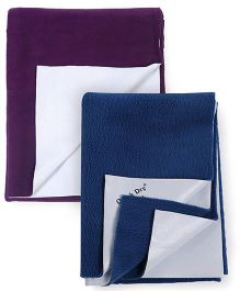 Quick Dry Bed Protector Small - Deep Sea Blue AND Quick Dry Bed Protector Medium - Plum