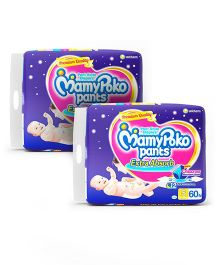Mamy Poko Extra Absorb Pant Style Diapers Small - 60 Pieces (Pack of 2)