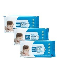 Mee Mee Caring Baby Wet Wipes With Lemon Fragrance - 72 Pieces Pack of 3