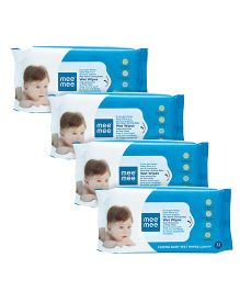 Mee Mee Caring Baby Wet Wipes With Lemon Fragrance - 72 Pieces Pack of 4
