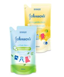 Johnsons baby Ultra Gentle Clean 500ml AND Johnsons baby Active Clean 500ml