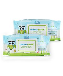 Mamaearth Bamboo Based Baby Wipes - 72 Pieces -Pack of 2