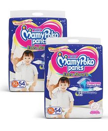 MamyPoko Extra Absorb Pant Style Diapers Extra Large 54 Pieces (Pack of 2)