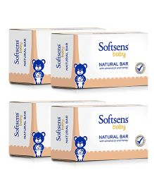 Softsens Baby Natural Soap Bar 75 grams Pack of 4