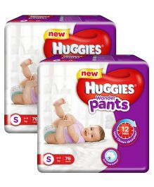 Huggies Wonder Pants Small Pant Style Diapers - 76 Pieces - Pack of 2