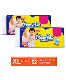 MamyPoko Standard Pant Style Diaper Extra Large Size - 26 Pieces (Pack of 2)