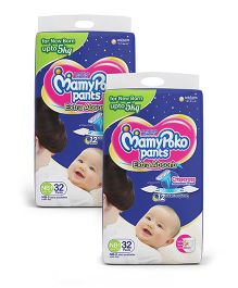 MamyPoko Pant Style Diapers Newborn - 32 Pieces (Pack of 2)