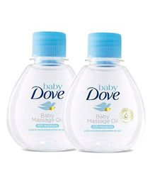 Baby Dove Rich Moisture Baby Massage Oil - 100 ml - Pack of 2