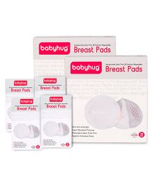 Babyhug 3D Contoured Disposable Breast Pads - 96 Pieces (2- Pack of 36 & 4-Pack of 6)